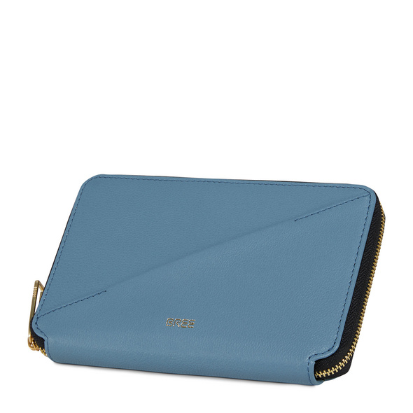 Bree Reißverschlussbörse Damen Privy 152 provinical blue