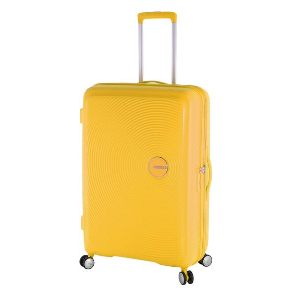 American Tourister Reisetrolley Soundbox 77cm golden yellow