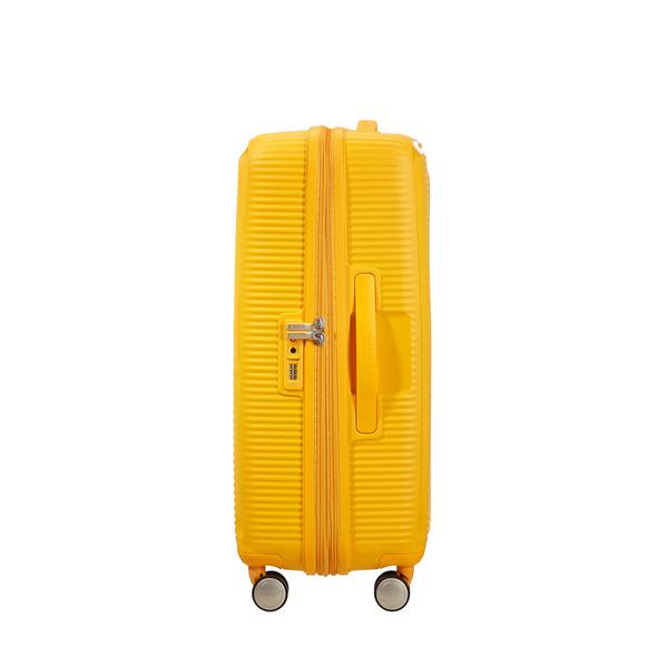 American Tourister Reisetrolley Soundbox 67cm golden yellow