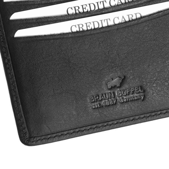 Braun Büffel Geldbörse Herren Cardiff schwarz