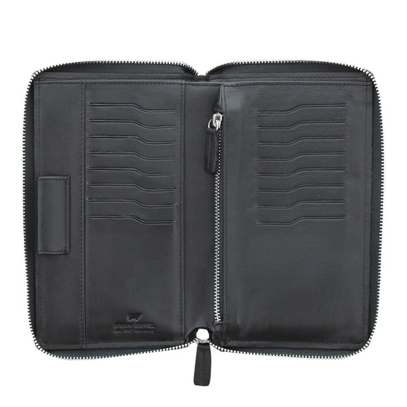 Braun Büffel Reißverschlussbörse Herren Golf 2.0 16CS schwarz