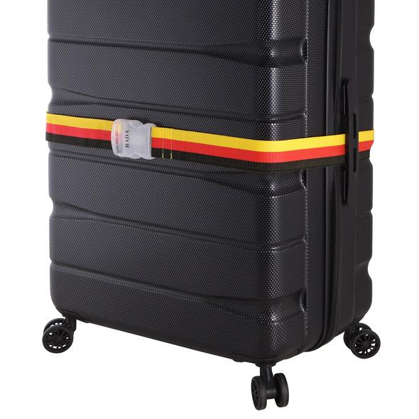 Rada Koffergurt schwarz/rot/gelb