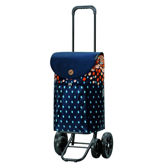 Andersen Einkaufstrolley Quattro Lily blau / orange