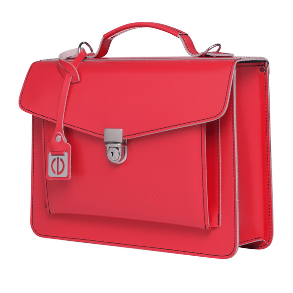 CEEVEE Leather Aktentasche Catchall Day coral