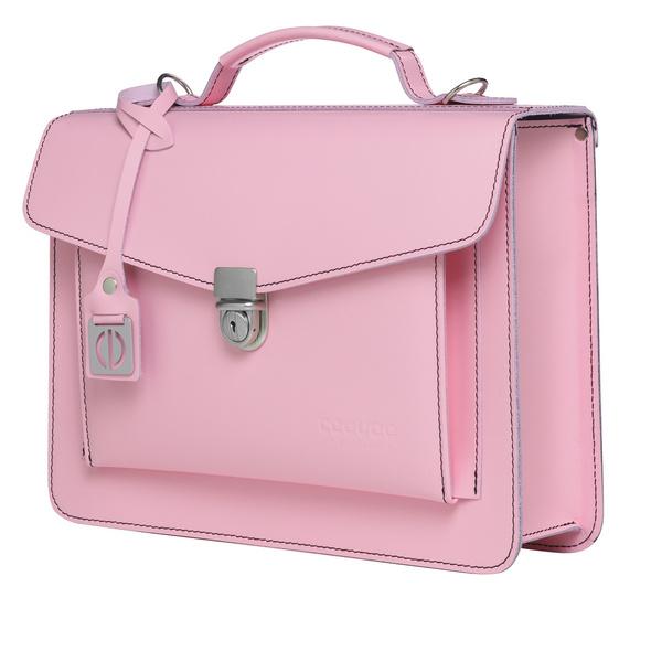 CEEVEE Leather Aktentasche Catchall Day soft pink