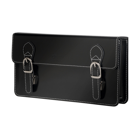 CEEVEE Leather Clutch Catchall Night pure black