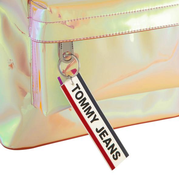 Tommy Jeans Damenrucksack TJW Logo Tape Mini Backpack canteloupe
