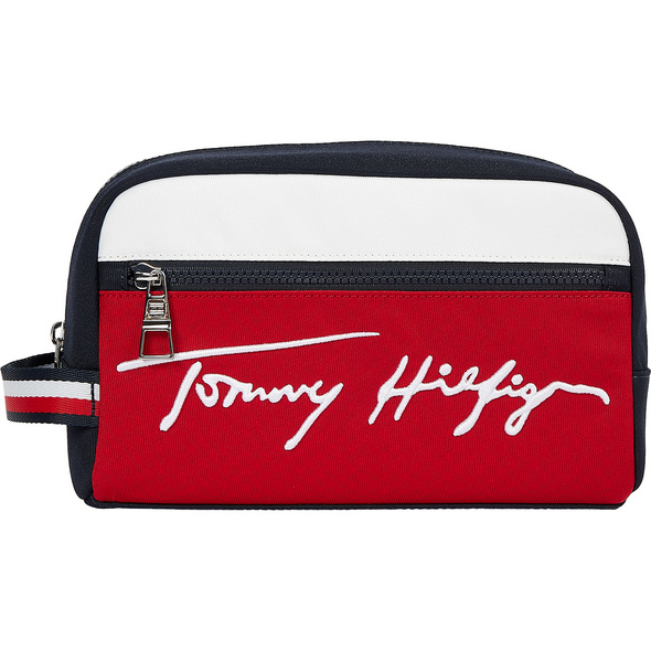 Tommy Hilfiger Kulturbeutel TH Signature Washbag blue