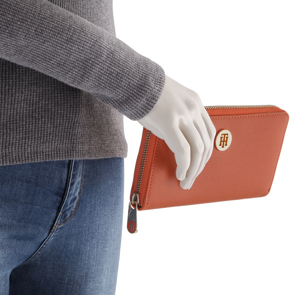 Tommy Hilfiger Langbörse Damen Honey LRG ZA Wallet orange