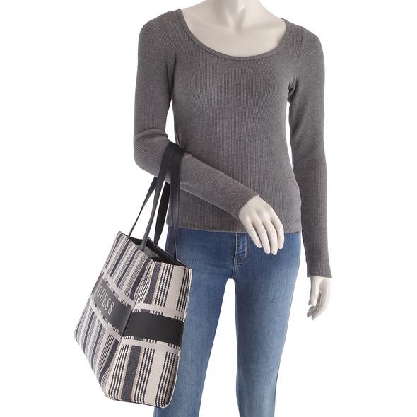 Guess Shopper Monique Tote red stripes
