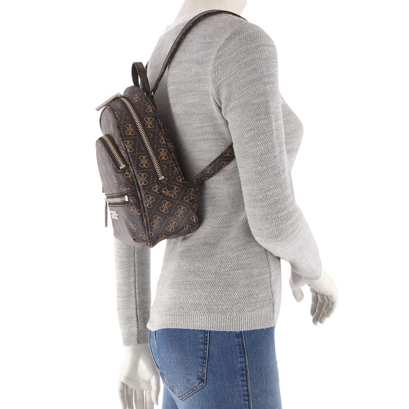 Guess Damenrucksack Manhattan Small Backpack brown