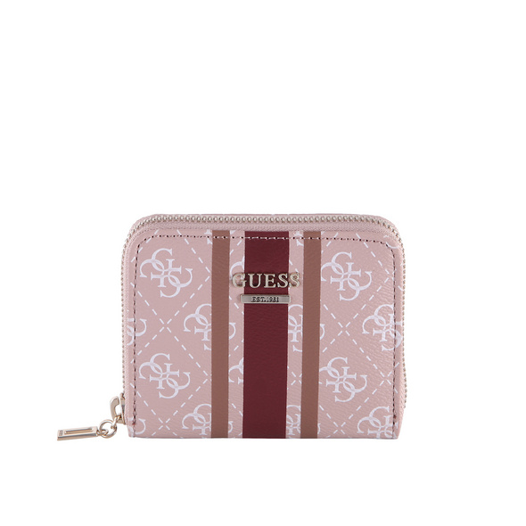 Guess Hochkantbörse Damen Jensen SLG Small Zip Around rose