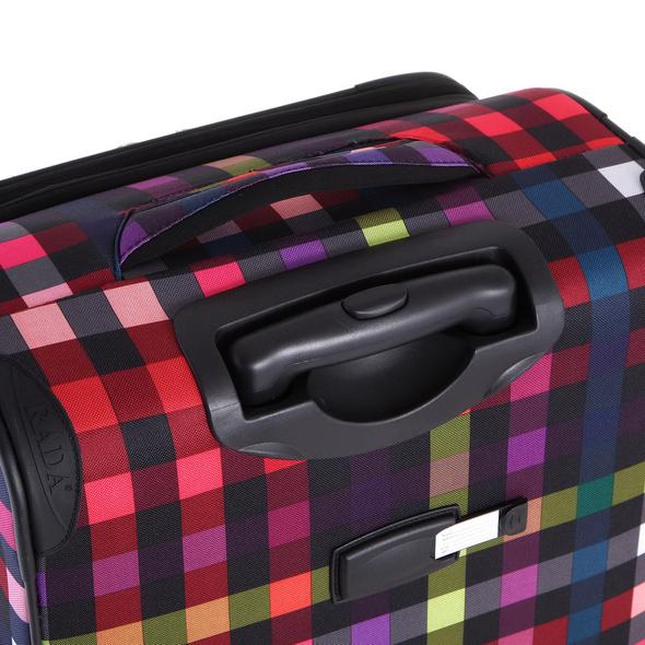 Rada Reisetrolley Rainbow T1/S 67cm multicolor check