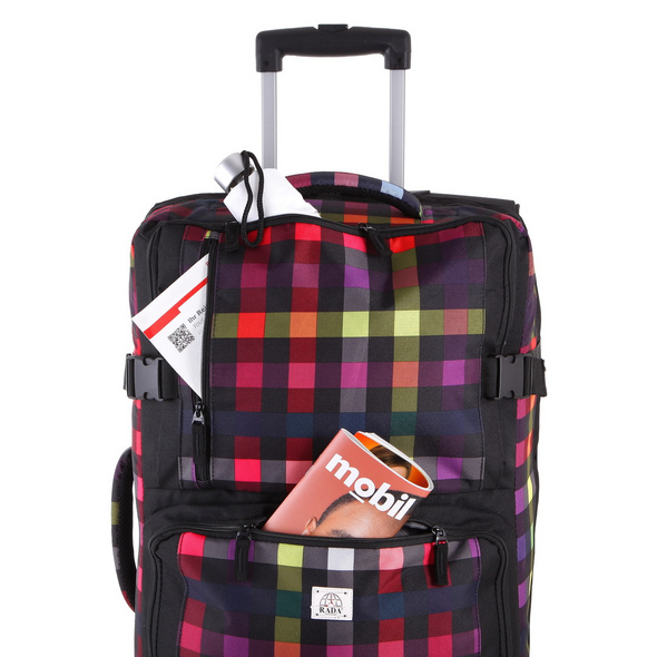 Rada Reisetasche mit Rollen RT/31/L 88l multicolor check