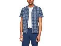 Regular: Hemd mit Allover-Print - Kurzarmhemd