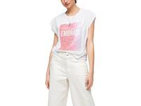 Lockeres T-Shirt mit Pailletten - Jerseyshirt