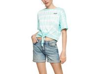 Batikshirt mit Knotendetail - T-Shirt
