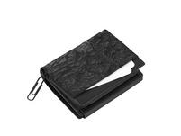 Klatta Portmonee Damen Flap Wallet schwarz paper
