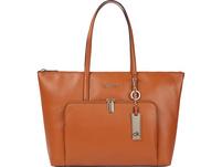 Calvin Klein Shopper LG Saffiano cognac