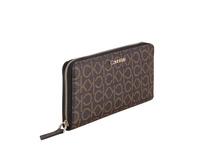 Calvin Klein Langbörse Damen CK Mono Ziparound Wallet LG black mono mix