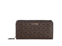 Calvin Klein Langbörse Damen CK Mono Ziparound Wallet LG brown mono mix