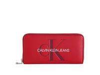 Calvin Klein Jeans Portmonee Damen Sculpted Large Ziparound barbados cherry