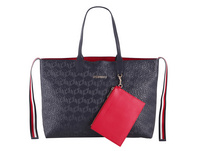 Tommy Hilfiger Shopper Iconic Tommy Tote Navy Embossed Monogram
