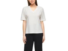 Lyocellmix-Shirt im cleanen Style - V-Neck-Shirt