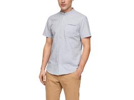 Slim: Hemd mit Stehkragen - Kurzarmhemd