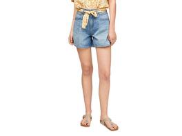 Regular Fit: Shorts mit weitem Bein - Jeansshorts
