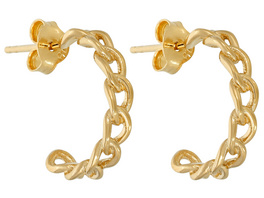 Creolen - Gold Chains