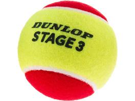 Dunlop STAGE 3 RED 3er Tennisball Kinder