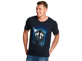 Doctor Who - Tardis Space T-Shirt blau