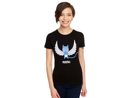 Fairy Tail - Happy Magic T-Shirt Damen schwarz
