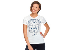 Alice im Wunderland - Adventures in Wonderland T-Shirt Damen weiß