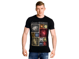 Game of Thrones - Häuser Wappen T-Shirt schwarz