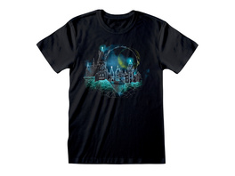 Harry Potter - Hogwarts at Night Sketch T-Shirt schwarz