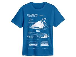 Zurück in die Zukunft - DeLorean Sketch T-Shirt blau