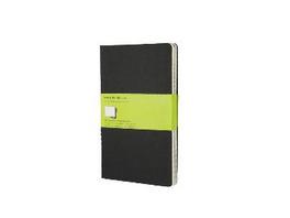 Moleskine Plain Cahier L - Black Cover  3 Set