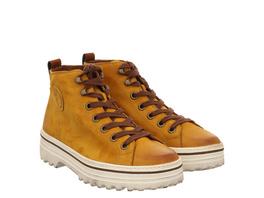 Paul Green 0067-4018-057/hightop-sneaker Schnürer gelb Damen