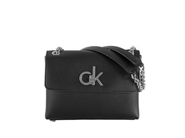 Calvin Klein Abendtasche EW Conv Flap Crossbody MD black