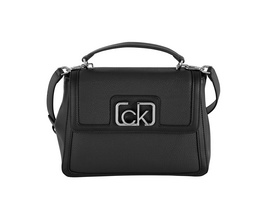 Calvin Klein Kurzgriff Tasche Flap Top Handle MD black
