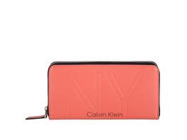 Calvin Klein Langbörse Damen NY Shaped Ziparound Wallet LG coral