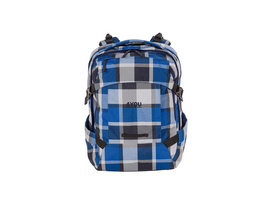 4You Schulrucksack Tight Fit 26l blue Squares