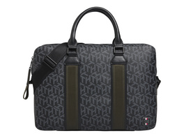 "Tommy Hilfiger Laptoptasche Monogram Coated Canvas Slim Computer Bag 15,6"" black"